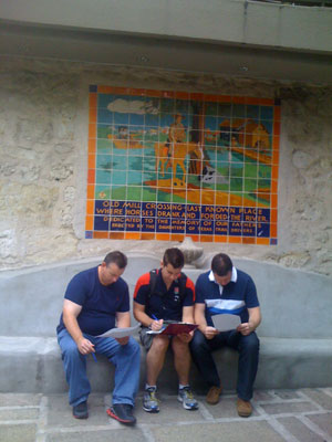 Preparing a plan on the River Walk